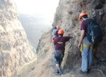 Lingana Difficult Route towards cave lingana Climbing & Rappelling by Explorers Pune Mumbai
