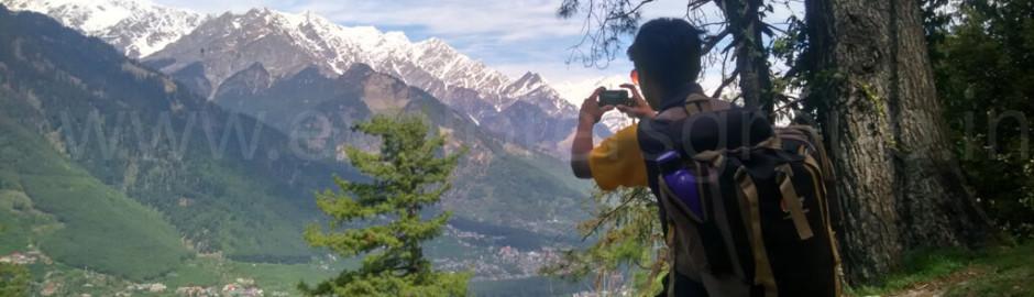 Capturing view on the way Manali Adventure Camp Explorers Pune Mumbai