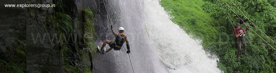 Explorers Waterfall rappelling Explorers treks & tours