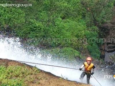 Explorers Madhe Ghat Waterfall Rappelling