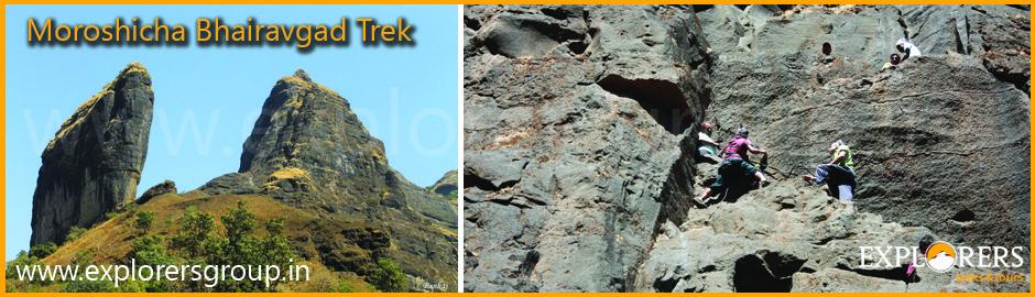 Moroshicha Bhairavgad Trek by Explorers Pune Mumbai