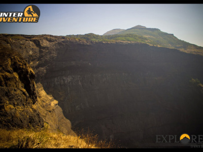 View of Kokankada - Harishchandragad Via Nalichi Vaat Adventure Trek by Explorers Pune Mumbai