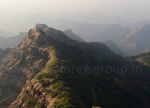 View from Aurther seat Point Chandragad to Aurther Seat Trek Explorers pune Mumbai