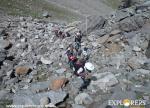 Approaching to Ratni Thowa mid camp - Hampta Pass Trek by Explorers Pune Mumbai
