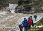 Compact Snow at Tricky Gulley - Deo Tibba Base Camp Trek by Explorers Pune Mumbai