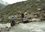 Crossing Chhatru Nullah - Hampta Pass Trek by Explorers Pune Mumbai