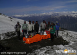 Enjoying Morning Sun Shine at Higher camp - Deo Tibba Base Camp Trek by Explorers Pune Mumbai