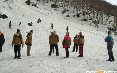 Enjoying Snow Rafting - Deo Tibba Base Camp Trek by Explorers Pune Mumbai