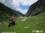 Enjoying far behind view of Jobri side valley - Hampta Pass Trek by Explorers Pune Mumbai