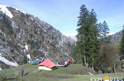 Zameer Campsite-A - Deo Tibba Base Camp Trek by Explorers Pune Mumbai