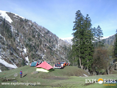Zameer Campsite-A - Deo Tibba Base Camp Trek by Explorers Pune Mumbai
