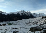 Enchanting view of Kharimindiyari campsite Explorers Pune mumbai Adventure Trek Manali Snow Trek