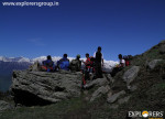 Enjoying distant view Explorers Pune mumbai Adventure Trek Shirghan-Tungu Trek