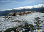 Kharimindiyari Camp. Explorers Pune mumbai Adventure Trek Manali Snow Trek