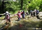 Physical River Crossing below at Banaad Explorers Pune mumbai Adventure Trek Shirghan-Tungu Trek