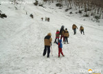 Sledging & Glissading on snow. Explorers Pune mumbai Adventure Trek Manali Snow Trek